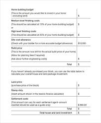 building a home budget 7 home budget templates free sample example format download