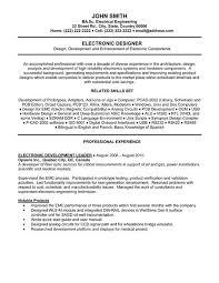 Electronic Engineer Resume Sam