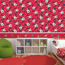 Minnie Mouse Bedroom Wallpaper Kids Wallpaper Kidshome Wallpaper 70 235 70235 Minnie Mouse Red