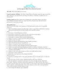 Office Position Resume Administrator Job Description Template Medical Office