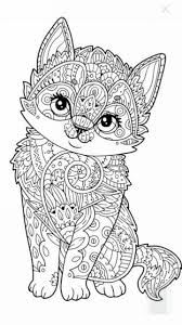 Cute Kitten Coloring Page Mandala Animal Coloring Pages