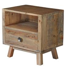 reclaimed wood nightstand. Reclaimed Wood Side Table Rustic Wooden Modish Living In Bedside Decorations 7 Nightstand
