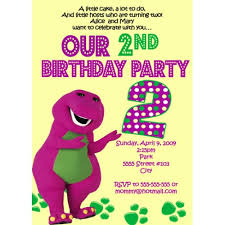 barney party invitation template number barney birthday invitations personalized invites