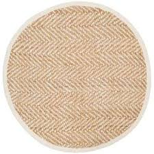 natural fiber ivory beige 8 ft x 8 ft round area rug
