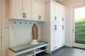 large mudroom decorating ideas entry transitional with coat hangers metal cabinet and drawer pulls