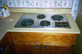 gas stove top cabinet. Built In Stove Top On Wooden Cabinet Countertop Gas A