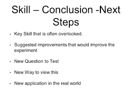 overview of a science project judson waye science lead asd n 23 skill conclusion next steps key