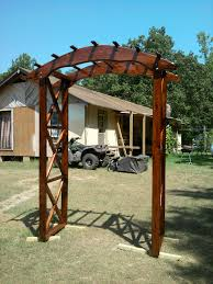 rustic arbor plans rustic x wedding arch do it yourself home projects from ana