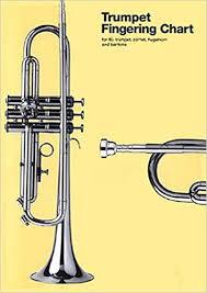 B Flat Baritone Finger Chart Amazon Com Trumpet Fingering Chart For B Flat Trumpet