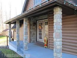 Exceptional Faux Stone Porch Columns Are A Great Way To Decorate Your Front Porch.  Click To Enlarge