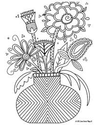 Those who are familiar with my tanglebucket facebook page have already seen this art, but. Zentangle Coloring Page Flowers By Love From Miss H Tpt