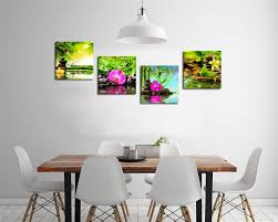 Amazon.com: Canvas Art Zen Canvas Prints Spa Wall Decor 4 Panel Canvas  Artwork Modern Pictures Framed Ready to Hang - Spa Massage Treatment Red  Orchid ...