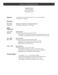 chronological resume template google docs resume template for reverse chronological resume example 2009 1 resumes idea