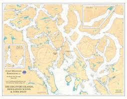 Ocean Charts Bc Discovery Islands Marine Chart Coastmountainexpeditions
