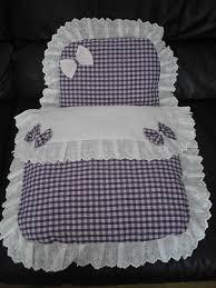 White & dark lilac dolls pram set..ideal for silver cross coach ... & White & dark lilac dolls pram set..ideal for silver cross coach built prams Adamdwight.com