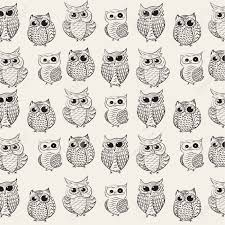 Owl Pattern Delectable Owl Pattern Background Royalty Free Cliparts Vectors And Stock