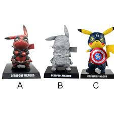Mô hình đồ chơi nhân vật Pikachu Deadpool phiên bản hóa trang nhân vật  trong phim hoạt hình Pokemon