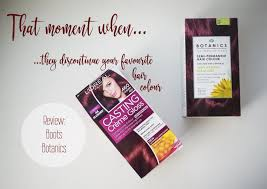 Boots Botanics Hair Colour Chart Loreal Casting Creme Gloss Cherry Red Archives The Days Eyes