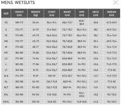 Xcel Wetsuits Size Chart Cm What Size Wetsuit Sizing Charts And Sizing Tips For Our Top