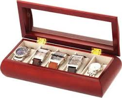 wooden watch storage boxes for men women watcho uk mele co luxury cherry wood finish glass top 5 watch storage box