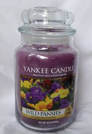 Yankee Candle Country Kitchen Yankee Candle Wild Pansies Large Jar Scented Candle Amazoncouk