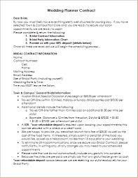 wedding planning contract templates wedding planner contract sample template document templates