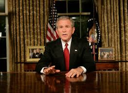 president in oval office. President George W. Bush Addresses The Nation From Oval Office Monday Evening, Sept In F