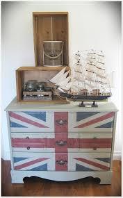painted furniture union jack autumn vignette. Union Jack Dresser Painted Furniture Autumn Vignette