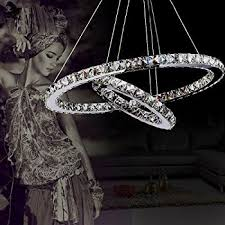 luxury modern lighting. brilliant luxury lightinthebox luxury modern crystal led pendant with unique two rings  home ceiling light fixture inside lighting c