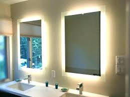 lighting behind mirror. Led Bathroom Mirror Lighting With Full Image For Lights Behind I