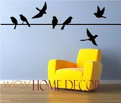 >awesome vinyl wall art decal bird on a wire set bird silhouette  outstanding bird decal birds on a wire wall art bird decor birds on with regard to bird wall art popular
