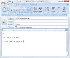 Sending Faxes Via Email