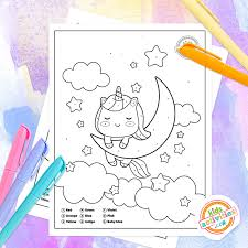 You will be spoiled for choice and you will find many unicorn pictures that you'll want to color in. Unicorn Color By Number Coloring Pages