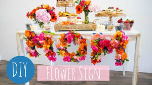 diy flower letters mothers day sign