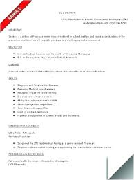 Junior Doctor Resume Of Medicine Physician Template Free