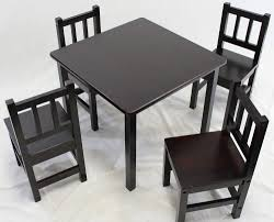 kids table and chair set 5 pcs solid hard wood in