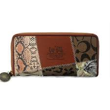 Coach Holiday Matching Large Brown Multi Wallets EDC