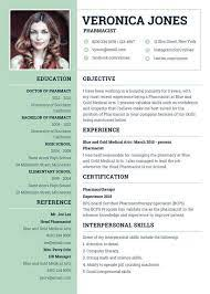 Type of resume and sample, latest cv format in pakistan.you must choose the format of your resume depending on your work and personal background. 7 Pharmacist Curriculum Vitae Templates Free Word Pdf Format Download Free Premium Templates