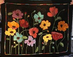 there was no need for anne to take formal lessons or attend works since she grew up in a family of rug hooking teachers so it was a new experience for