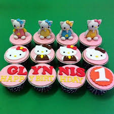 Kl Quality Handcrafted 3d Hello Kitty Cupcake Kljbpenang Novelty