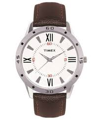 timex ti002b11300 brown leather analog watch buy timex timex ti002b11300 brown leather analog watch