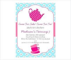 Tea Party Invitation Card Seekingfocus Co