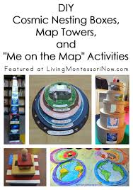 diy cosmic nesting boxes map towere on the map activities