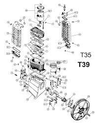belaire t35 t39 1312101036 air compressor parts 1312101036 t35 t39 air compressor pump parts schematic