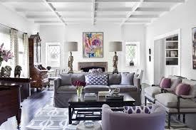 gray velvet sofa contemporary living room burnham design rh decorpad com purple and grey sofas purple and grey sofas