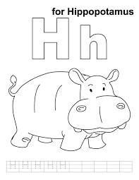 Small Picture H for Hippopotamus in Hippo Coloring Page NetArt