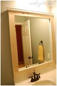 Diy Bathroom Mirror Bathroom Mirror Frames Mosaic Tile Framed Bathroom Mirror