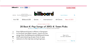 Pop Song Charts 2013 News Usas Music Billboard Ranks Exos Growl As 1 Best K