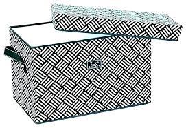 decorative fabric storage bins once closetmaid