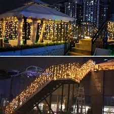 Outdoor Holiday Lights Super Deal De12f Icicle Led Curtain Droops String Light